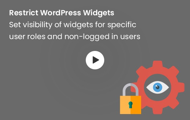 Restrict WP Widgets