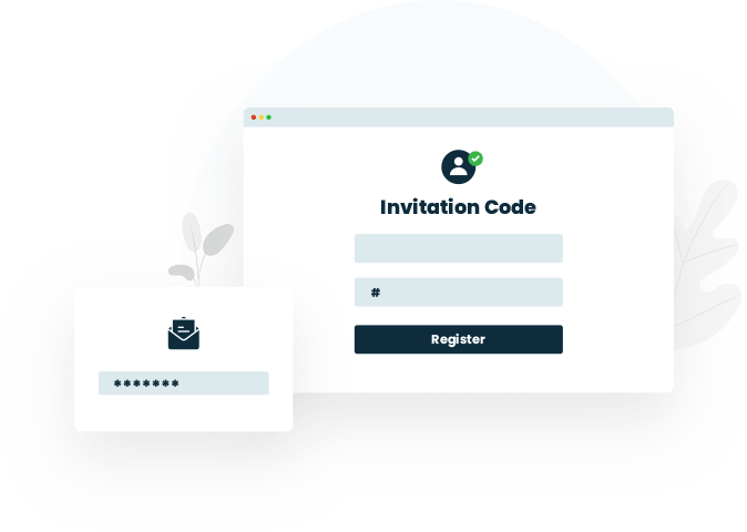 Invitation based registrations