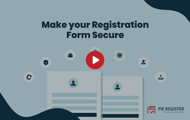 Create secure registration forms