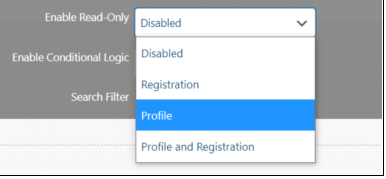 Enable Readonly Options